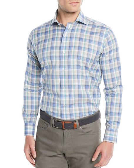 Peter Millar Men's Saronic Melange Check Sport Shirt