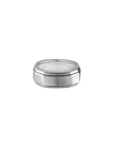 Men's 9mm Deco Band Ring