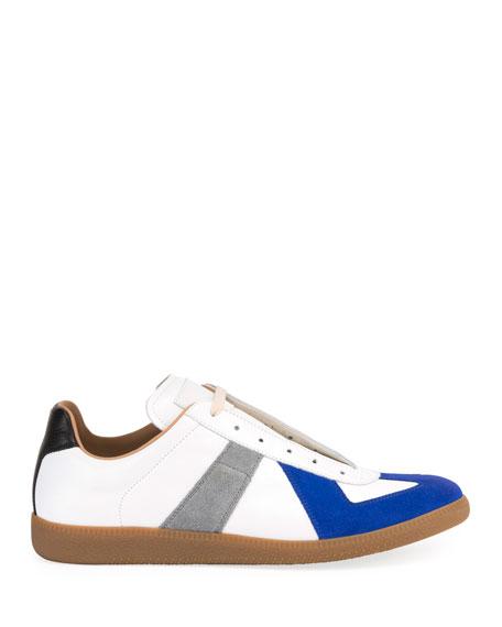 Men's Replica Colorblock Leather Low-Top Sneakers