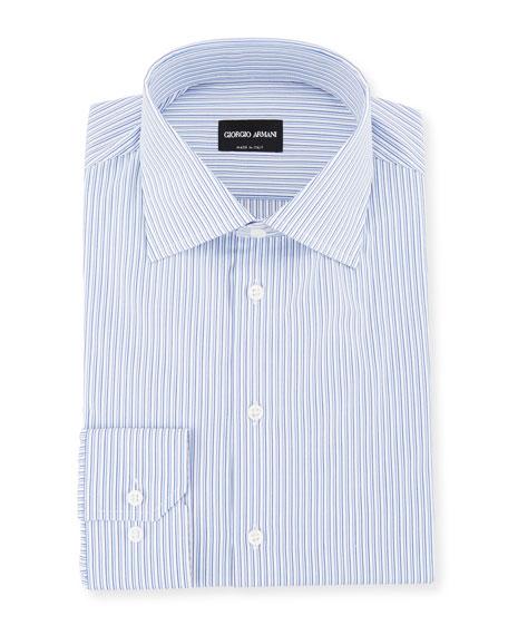 Men's Shadow-Striped Cotton Dress Shirt
