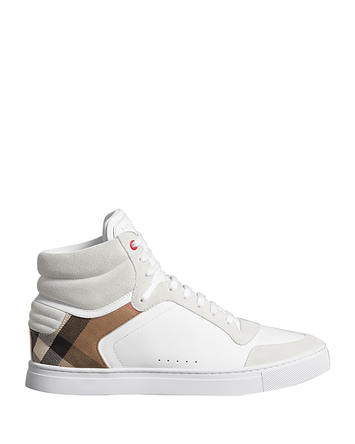 35d66839304 Burberry Men s Reeth High-Top Leather Sneakers