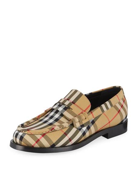Men'S Moore Signature Check Penny Loafer, Yellow