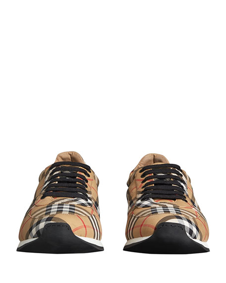 Men's Travis Signature Check Trainer Sneakers