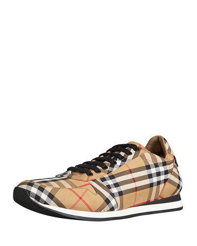 Men's Travis Signature Check Trainer Sneaker