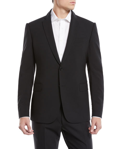 Emporio Armani Men's Basic Two-Piece Wool Mouline Suit