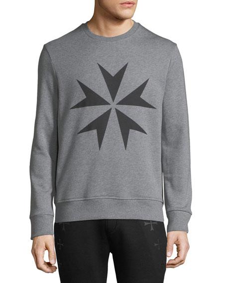 Neil Barrett Men's Military Star Sweatshirt
