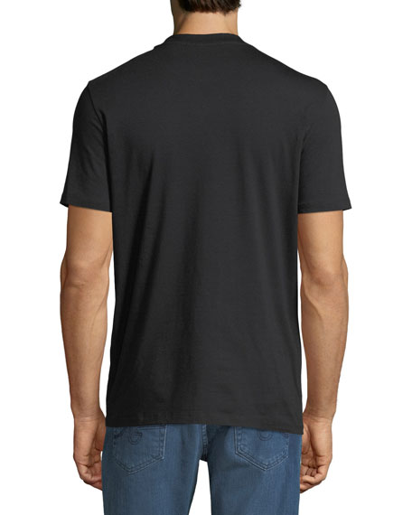 Neil Barrett Men's Black-On-Black Graphic T-Shirt