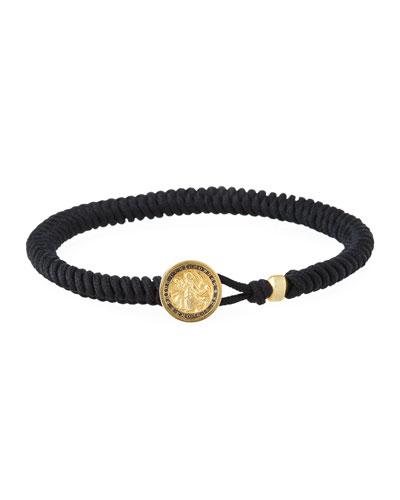 Men's Saint Christopher Woven Bracelet