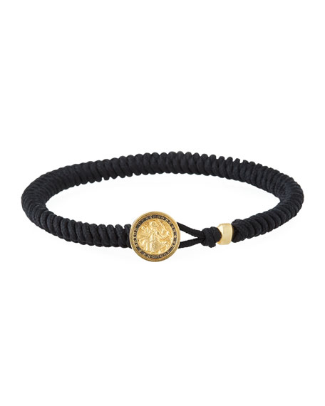 David Yurman Men's Saint Christopher Woven Bracelet