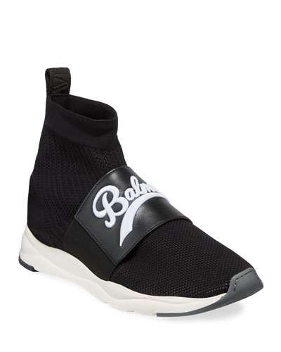 Men's Cameron Pull-On Logo Sock Running Sneakers