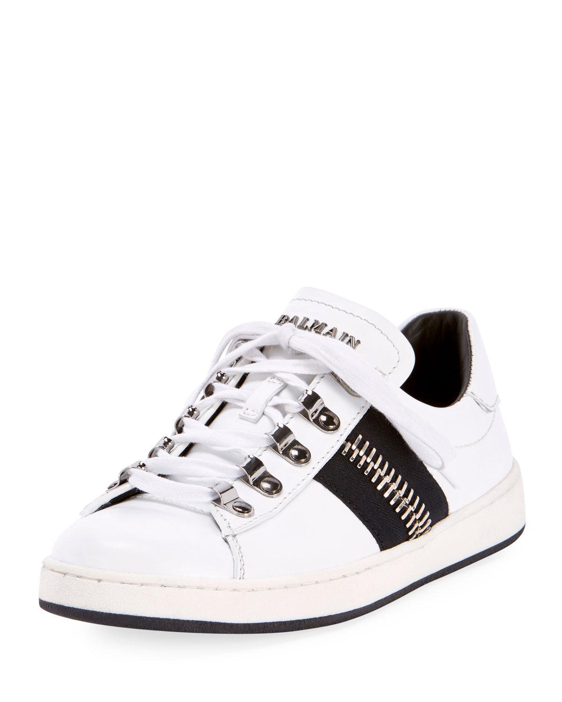 Balmain Paris Mens Shoes Strap Logo Sneakers Made in Italy