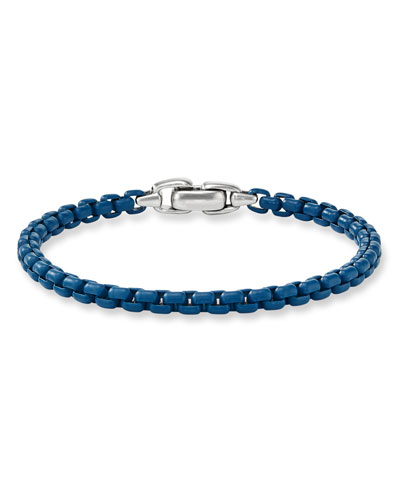 Men's Acrylic-Coated Box Chain Bracelet  5mm