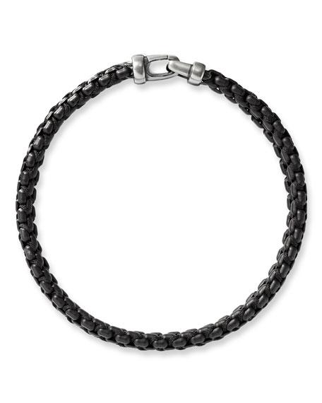 David Yurman Men's 10mm Woven Box Chain Bracelet, Black
