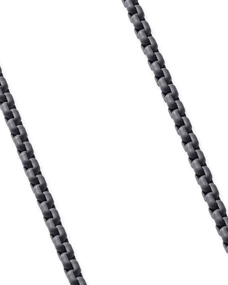 "David Yurman Men's Acrylic-Coated Stainless Steel Box Chain, Gray, 24"""