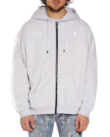 Marcelo Burlon Men's Wings Barcode Zip-Front Hoodie