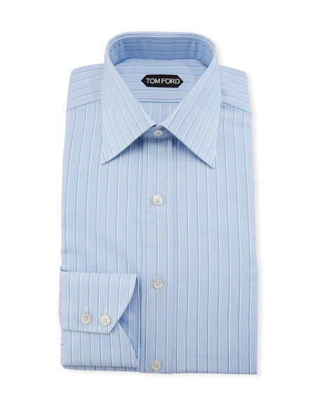 TOM FORD Men's Textured Stripe Dress Shirt
