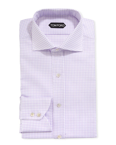 Image 1 of 2: Men's Tattersall Cotton Dress Shirt