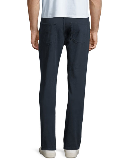 5-Pocket Slim-Leg Twill Pants