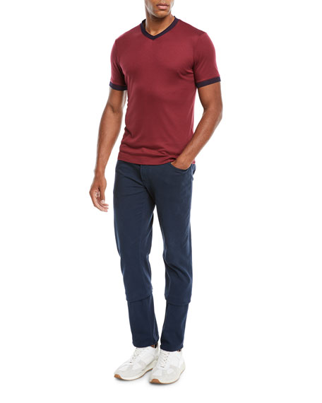 Image 3 of 4: 5-Pocket Slim-Leg Twill Pants