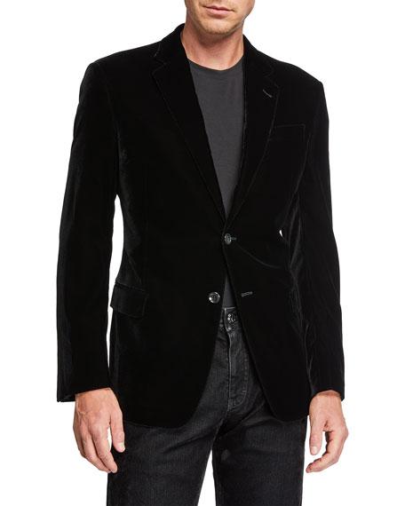 Giorgio Armani Men's Velvet Two-Button Jacket