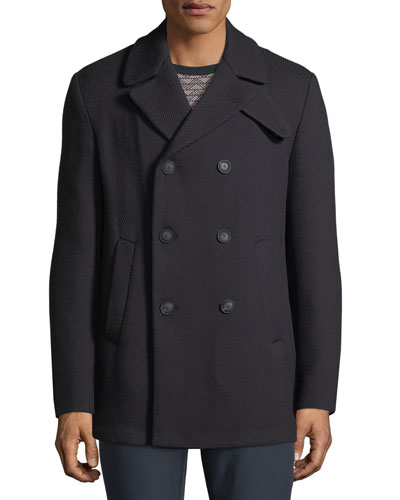 Men's Wool Double-Breasted Pea Coat