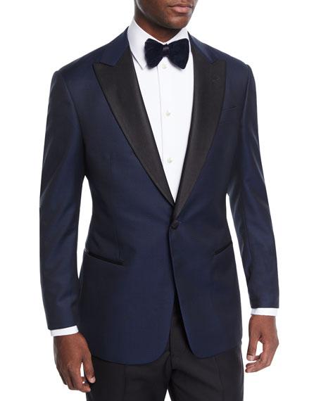 Giorgio Armani Men's Men's Satin-Lapel Chevron Tuxedo Jacket