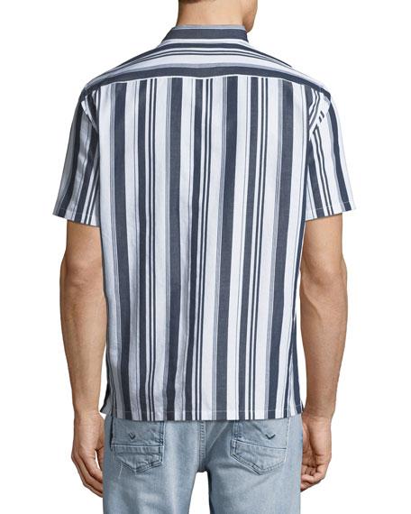 Theory Men's Irving Wide Striped Short-Sleeve Sport Shirt