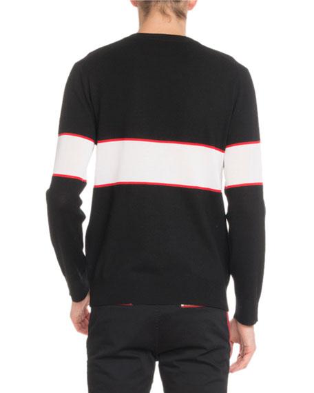 Givenchy Men's Bar Logo Light Wool Sweater