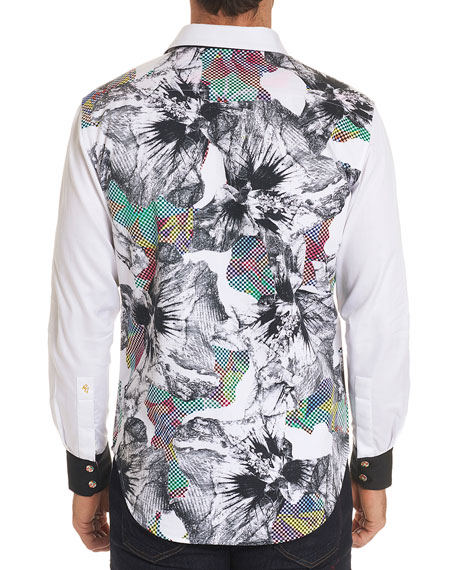 Men's Limited Edition Corporal Floral-Print Sport Shirt
