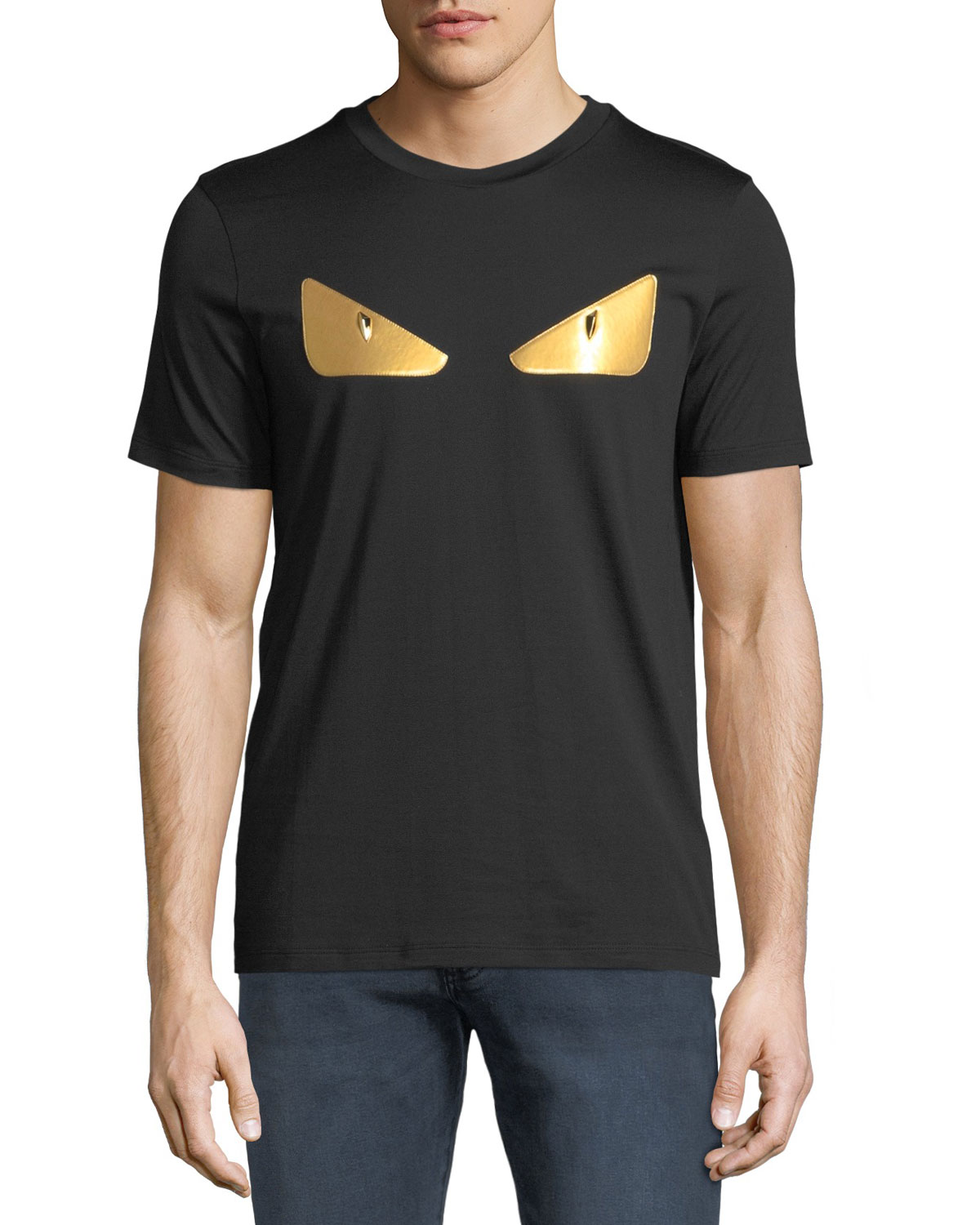 b978dc4a8f Fendi Men's Gold Bugs Applique T-Shirt | Neiman Marcus