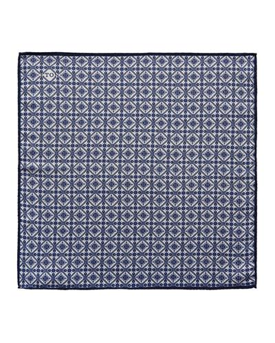 Tile Pattern Silk Pocket Square