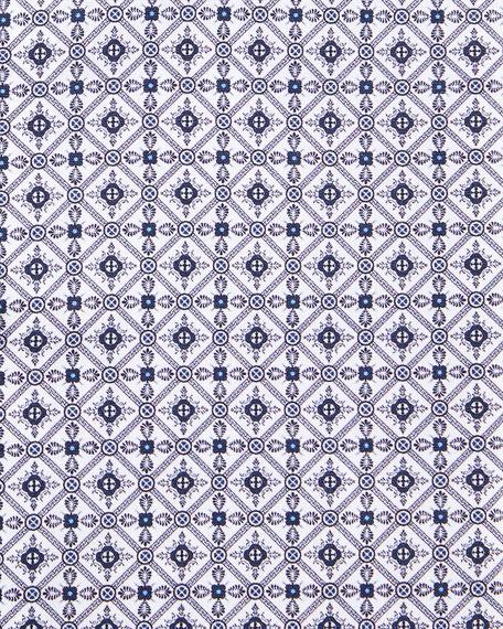 Men's Contemporary Tile-Print Dress Shirt