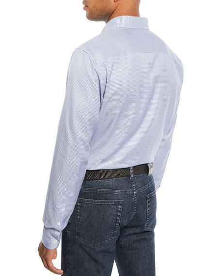 Brioni Men's Mini Check Cotton Sport Shirt