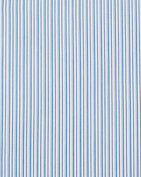 Ermenegildo Zegna Men's Multi-Stripe Cotton Dress Shirt, Royal Blue
