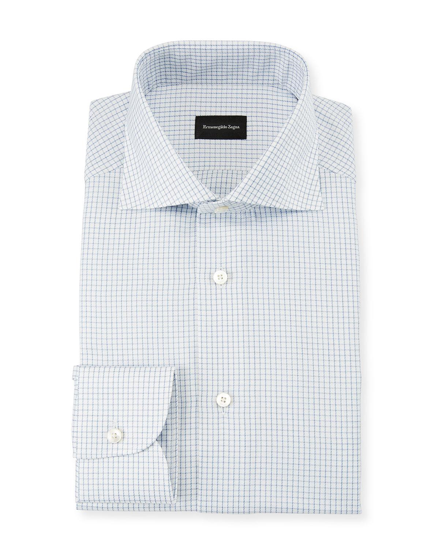 8f86adf1 Men's Graph Check Dress Shirt, Blue