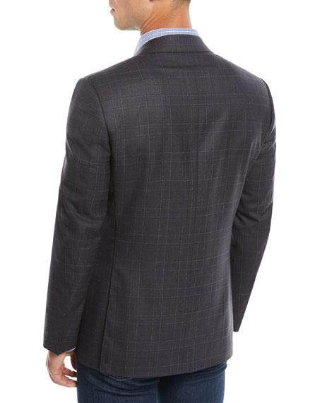 Canali Men's Super 120s Wool Plaid Sport Coat Jacket