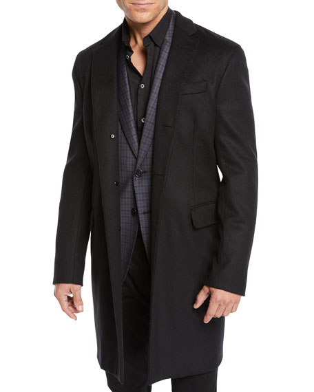Emporio Armani Men's Wool Top Coat