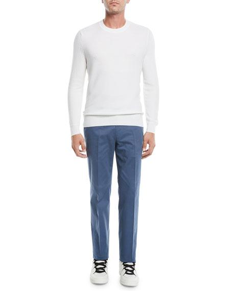 Ermenegildo Zegna Men's Cotton-Cashmere Flat Front Trousers