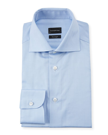 Ermenegildo Zegna Men's Trecapi Solid Dress Shirt