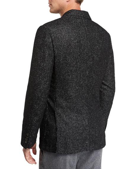 Ermenegildo Zegna Men's Two-Button Tic-Pattern Jacket