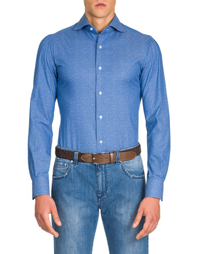 Men's Micro-Leaves Sport Shirt