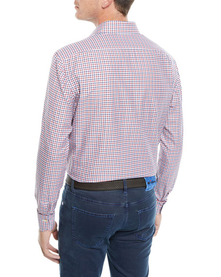 Image 2 of 3: Men's Check Cotton Sport Shirt