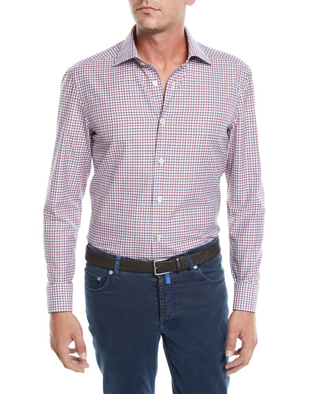 Image 1 of 3: Men's Check Cotton Sport Shirt