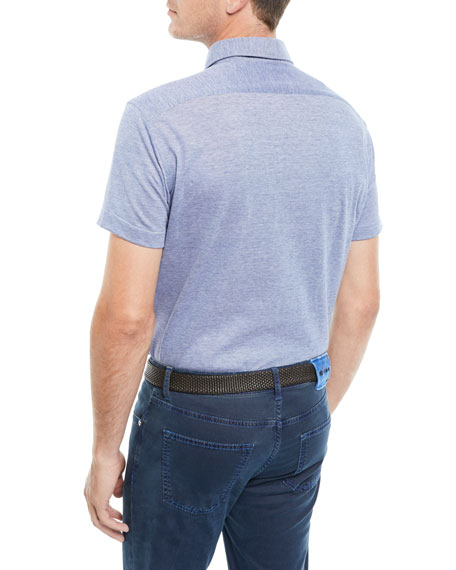 Men's Oxford Heathered Polo Shirt