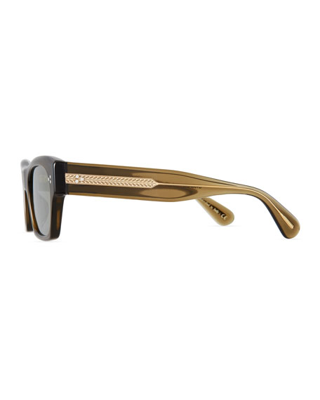 Men's Isba Mirrored Acetate Sunglasses