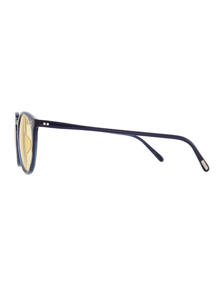 Men's O'Malley Peaked Round Sunglasses