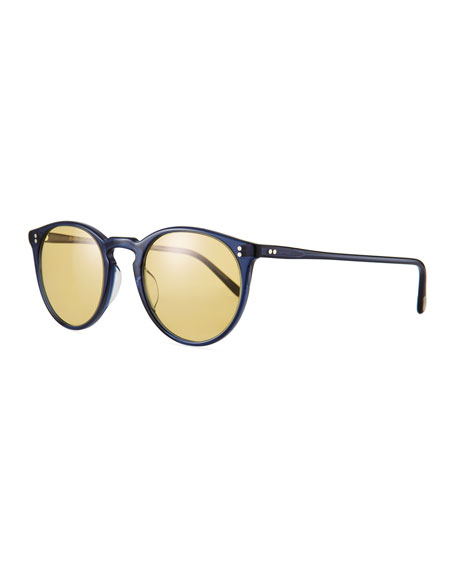 Oliver Peoples Men's O'Malley Peaked Round Sunglasses