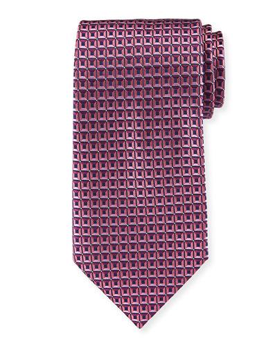 3D Box Silk Tie  Pink