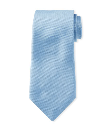 Solid Silk Tie  Light Blue