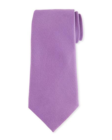 Ermenegildo Zegna Textured Solid Silk Tie, Purple